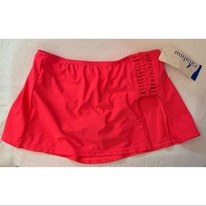 NWT Catalina Bright Coral Skirtini Bottom Sz Small